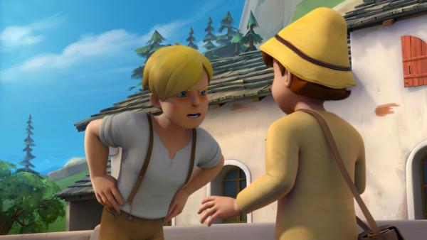 Karl erpresst Peter. | Rechte: ZDF/Studio 100 Animation/Heidi Productions Pty. Limited