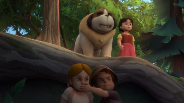 Theresa und Willi folgen Heidi heimlich, die auf der Suche ist nach Peter ist.   Rechte: ZDF/Studio 100 Animation/Heidi Productions Pty. Limited
