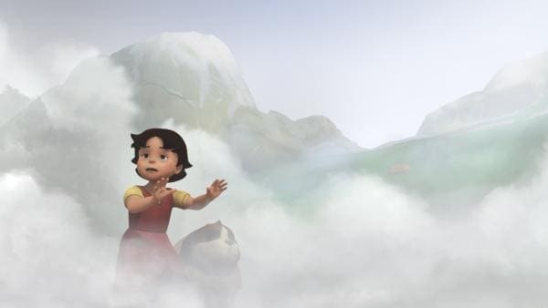 Heidi verirrt sich im Nebel. | Rechte: ZDF/Studio 100 Animation/Heidi Productions Pty. Limited