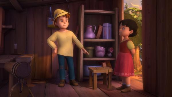 Peter erzählt Heidi, wie schrecklich er die Schule findet. | Rechte: ZDF/Studio 100 Animation/Heidi Productions Pty. Limited
