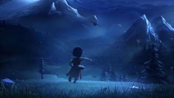 Aus Angst vor der Schule läuft Heidi nachts weg. | Rechte: ZDF/Studio 100 Animation/Heidi Productions Pty. Limited