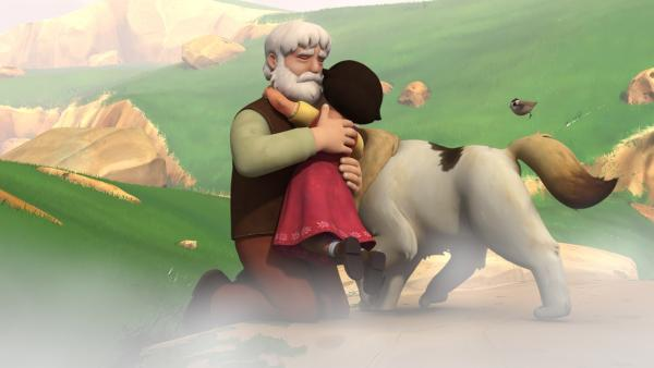 Großvater konnte Heidi im letzten Augenblick retten. | Rechte: ZDF/Studio 100 Animation/Heidi Productions Pty. Limited
