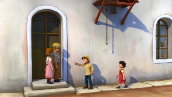 Peter beschuldigt Karl des Diebstahls. | Rechte: ZDF/Studio 100 Animation/Heidi Productions Pty. Limited