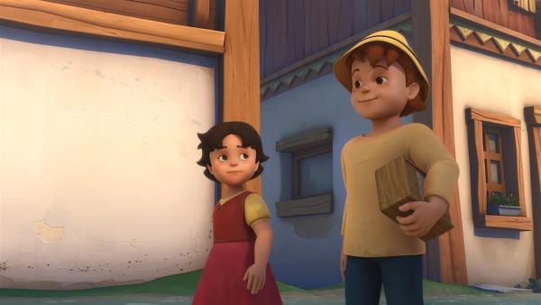 Dank Heidi hat Peter seinen Schatz wieder. | Rechte: ZDF/Studio 100 Animation/Heidi Productions Pty. Limited