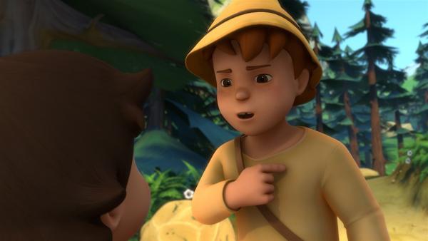Peter will Heidi überzeugen zu kämpfen.   Rechte: ZDF/Studio 100 Animation/Heidi Productions Pty. Limited