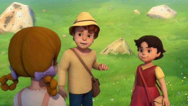 Peter hilft dabei, das Heilkraut zu finden. | Rechte: ZDF/Studio 100 Animation/Heidi Productions Pty. Limited