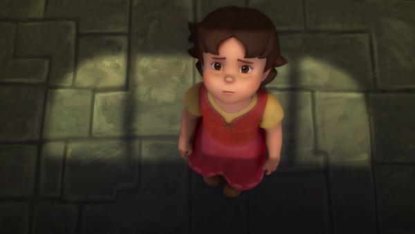 Heidi ist im Keller eingesperrt und fürchtet sich. | Rechte: ZDF/Studio 100 Animation/Heidi Productions Pty. Limited