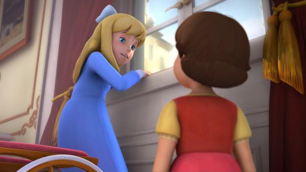 Clara versucht zu stehen. | Rechte: ZDF/Studio 100 Animation/Heidi Productions Pty. Limited