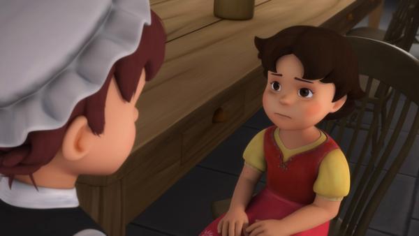 Heidi sagt Dete, dass sie nicht adoptiert werden möchte. | Rechte: ZDF/Studio 100 Animation/Heidi Productions Pty. Limited