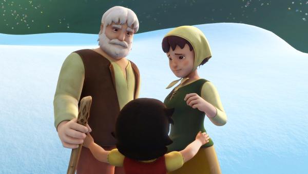 Heidi ist froh, dass Dete und Großvater sich versöhnen. | Rechte: ZDF/Studio 100 Animation/Heidi Productions Pty. Limited