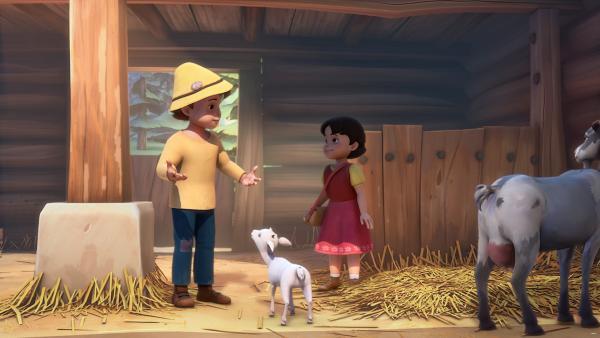 Heidi darf dem neugeborenen Lämmchen einen Namen geben. | Rechte: ZDF/Studio 100 Animation/Heidi Productions Pty. Limited