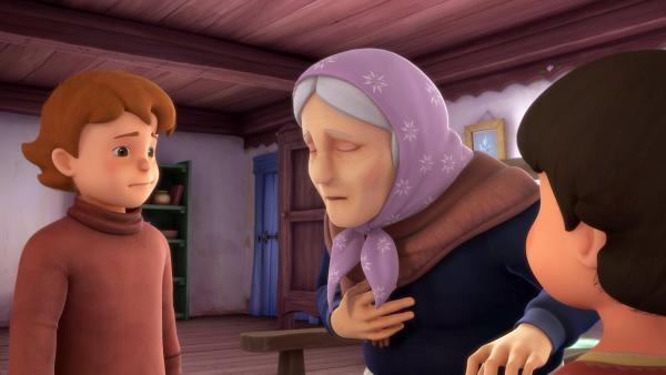 Peter und Heidi sind besorgt. Großmutter ist krank. | Rechte: ZDF/Studio 100 Animation/Heidi Productions Pty. Limited