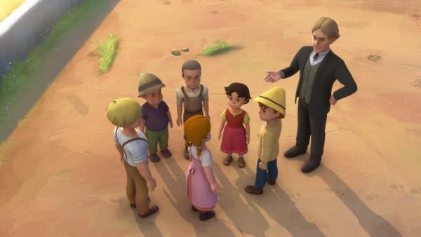 Der Lehrer redet mit Theresa, um ihre Tat zu verstehen. | Rechte: ZDF/Studio 100 Animation/Heidi Productions Pty. Limited
