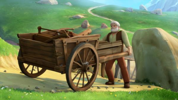 Großvater arbeitet an der Brücke.   Rechte: ZDF/Studio 100 Animation/Heidi Productions Pty. Limited