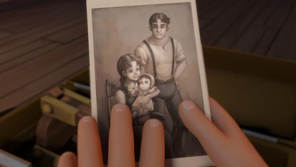Heidi findet ein altes Foto ihrer Eltern.   Rechte: ZDF/Studio 100 Animation/Heidi Productions Pty. Limited