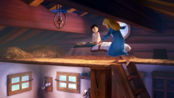 Clara läuft zum ersten Mal wieder. | Rechte: ZDF/Studio 100 Animation/Heidi Productions Pty. Limited