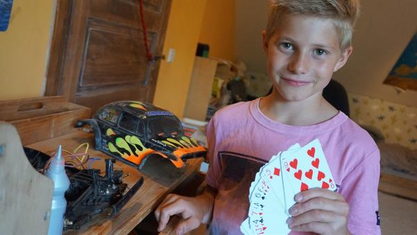 Fynn macht der Hobbytausch großen Spaß.                        | Rechte: MDR/Martin Reißmann