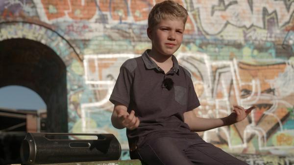 Morten beim Rappen | Rechte: MDR/Cine Impuls