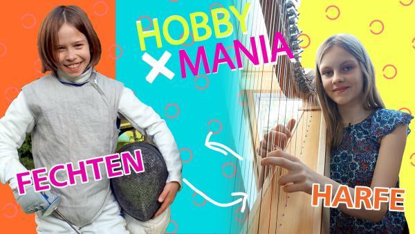 Ella tauscht ihr Hobby Fechten gegen Lenas Hobby Harfe spielen. | Rechte: MDR/Cine Impuls