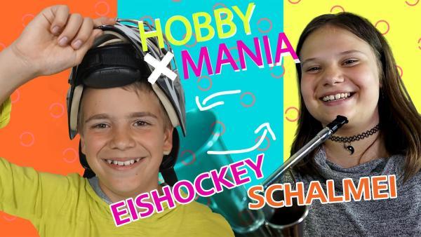 Justin spielt Eishockey und tauscht mit Maxi, die in einer Schalmei-Kapelle spielt, sein Hobby. | Rechte: MDR/Cine Impuls