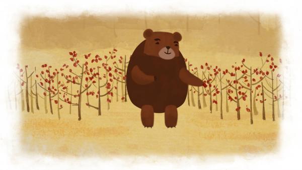 Der Bär sammelt Beeren für den Winter. | Rechte: SWR
