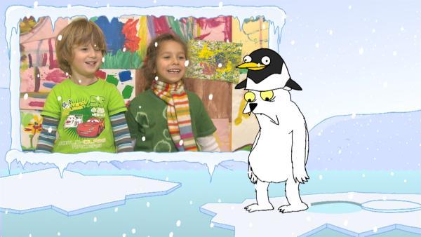 """""""Ich kenne ein Tier … und das schwarz und weiß!"""" Der Eisbär im """"Ich kenne ein Tier""""-Rätsel ist zwar nur weiß – aber er wär so gerne das Tier der heutigen Sendung.    Rechte: SWR"""
