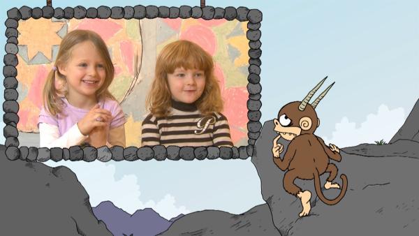 """""""Ich kenne ein Tier … das hat Hörner und klettert auf Berge."""" Der Affe aus dem """"Ich kenne ein Tier""""-Rätsel klettert zwar auch gerne. Aber hat ein Affe Hörner?!   Rechte: SWR"""