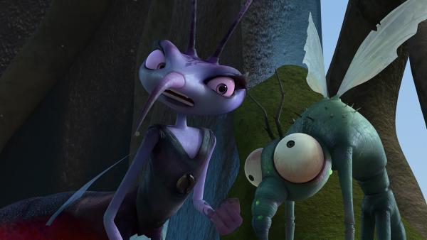 Gnats schweigsame Art treibt Adilla zur Weißglut.  | Rechte: KiKA/One Animation PTE LTD.