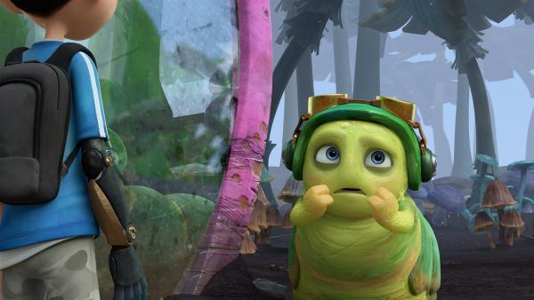 Chowser erzählt Zak, was er zuvor gesehen hat.   Rechte: KiKA/One Animation PTE LTD.