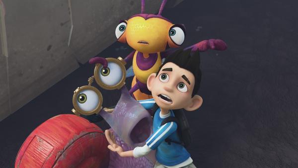 Syd, Willow und Zak bekommen es mit der Angst zu tun. | Rechte: KiKA/One Animation PTE LTD.