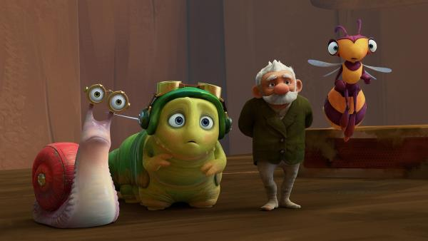Syd, Chowser, Gramps und Willow | Rechte: KiKA/One Animation PTE LTD.