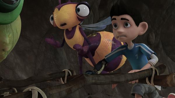 Willow und Zak rennen durch den Tunnel.  | Rechte: KiKA/One Animation PTE LTD.