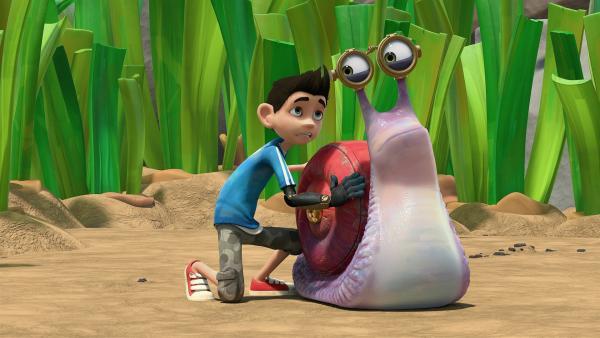 Zak ist besorgt, weil Syd Saft im Getriebe hat. | Rechte: KiKA/One Animation PTE LTD.
