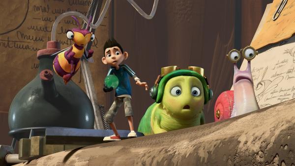 Willow, Zak, Chowser und Syd sind schockiert. | Rechte: KiKA/One Animation PTE LTD.