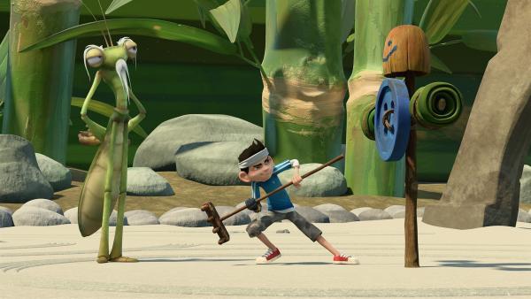 Zak besucht die Kung-Fu-Schule. | Rechte: KiKA/One Animation PTE LTD.