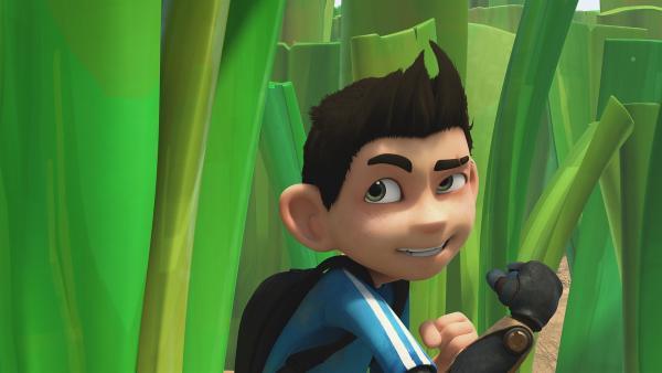 Weil seine Freunde genug von Zaks Plänen haben, geht er es dieses Mal alleine los. | Rechte: KiKA/One Animation PTE LTD.