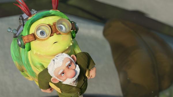 Chowser und Gramps kommen.   Rechte: KiKA/One Animation PTE LTD.