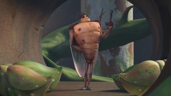 Die Kakerlaken bewachen die Puppen. | Rechte: KiKA/One Animation PTE LTD.