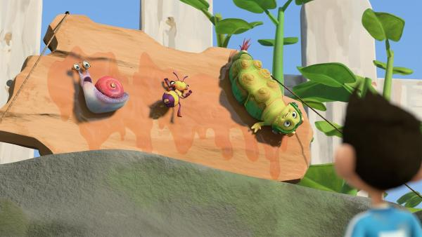 Lidia hat die anderen Insectibles gefangen, um Zack zu erpressen. | Rechte: KiKA/One Animation PTE LTD.