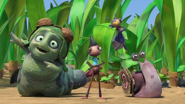 Die Doppelgänger der Insectibles ziehen eine miese Show ab. | Rechte: KiKA/One Animation PTE LTD.