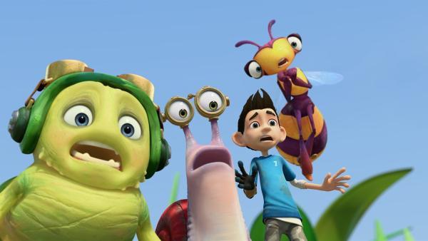 Die Insectibles erschrecken sich.   Rechte: KiKA/One Animation PTE LTD.