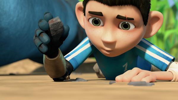 Zak befreit die winzig-kleine Milbe Wia.   Rechte: KiKA/One Animation PTE LTD.