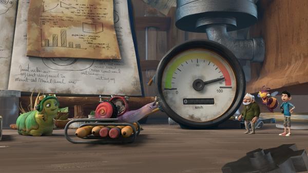Syd will seinen Geschwindigkeitsrekord brechen. | Rechte: KiKA/One Animation PTE LTD.