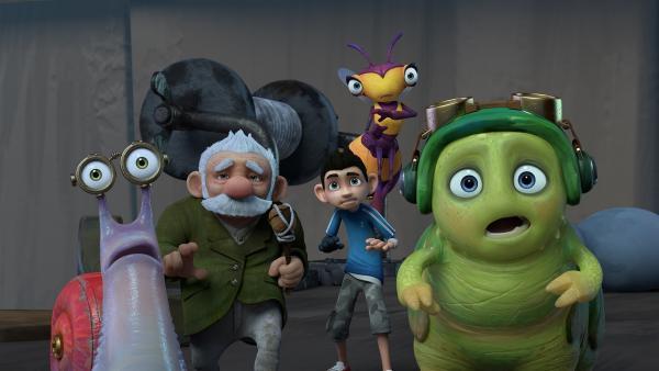 Die Insectibles wissen nicht, was auf sie zukommt.   Rechte: KiKA/One Animation PTE LTD.
