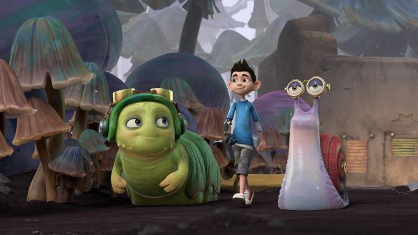 Chowser, Zak und Syd wollen herausfinden, wo Willow die ganze Zeit steckt.  | Rechte: KiKA/One Animation PTE LTD.