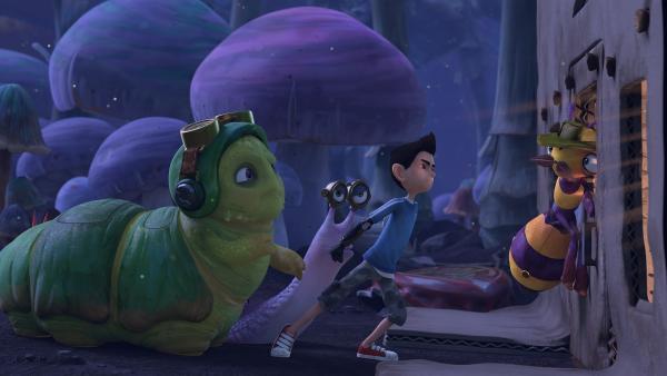 Zak, Syd und Chowser verfolgen Willow.  | Rechte: KiKA/One Animation PTE LTD.