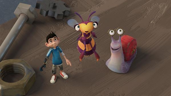 Zak, Syd und Willow finden etwas an der Decke. | Rechte: KiKA/One Animation PTE LTD.