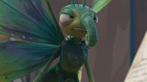 Ein launischer Schmetterling schlüpft aus der Puppe.    Rechte: KiKA/One Animation PTE LTD.