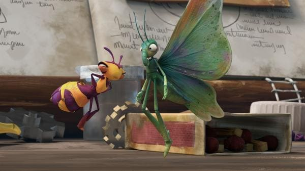 Willow verliert die Geduld mit dem Schmetterling.    Rechte: KiKA/One Animation PTE LTD.