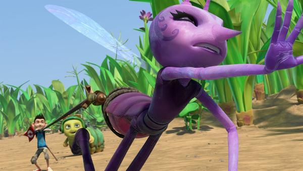 Zak schnappt sich Lidia und versucht sie zu stoppen. | Rechte: KiKA/One Animation PTE LTD.